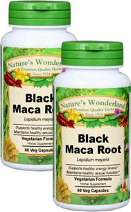 Maca Root, Black, Organic, 60 Veg Caps each (Lepidium meyenii)