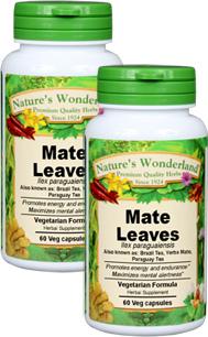 Mate Organic Capsules - 525 mg, 60 Vcaps™ (Ilex paraguariensis)
