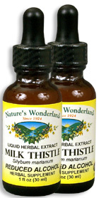 Milk Thistle Seed Extract, Reduced Alcohol, 1 fl oz / 30 ml each (Nature's Wonderland)