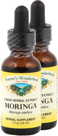 Moringa Leaf Liquid Extract - Organic, 1 fl oz / 30 ml each (Nature's Wonderland)
