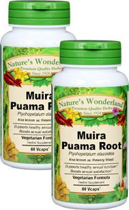 Muira Puama Capsules - 425 mg, 60 Veg Capsules each (Ptychopetalum olacoides)