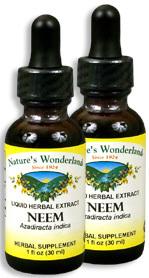 Neem Extract, 1 fl oz  / 30 ml each (Nature's Wonderland)