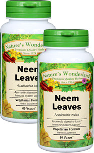 Neem Capsules - 575 mg, 60 Veg Capsules each (Azadirachta indica)