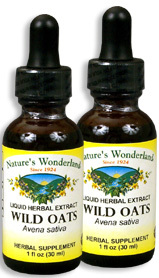 Wild Oats Extract (Oat Straw) - 1 fl oz / 30 ml each (Nature's Wonderland)