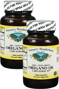 Oregano Oil Capsules - 510 mg, 60 liquid veggie caps each (Nature's Wonderland)