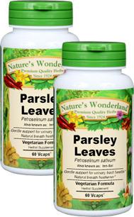 Parsley Leaf Capsules - 450 mg, 60 Veg Capsules each (Petroselinum sativum)