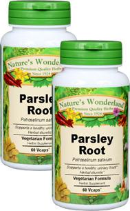 Parsley Root Capsules - 650 mg, 60 Veg Capsules each (Petroselinum sativum)