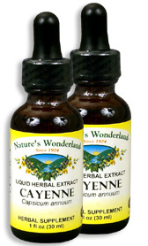 Cayenne Extract, 1 fl oz / 30 ml each (Nature's Wonderland)