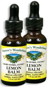 Lemon Balm Extract, 1 fl oz / 30 ml each (Nature's Wonderland)
