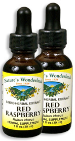 Red Raspberry Liquid Extract, 1 fl oz  / 30 ml each (Nature's Wonderland)