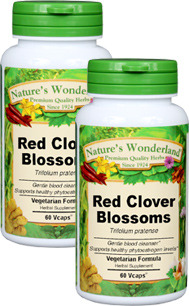 Red Clover Blossoms Capsules - 450 mg, 60 Veg Caps each (Trifolium pratense)