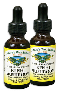 Reishi (Ganoderma) Mushroom Extract, 1 fl oz / 30ml each  (Nature's Wonderland)