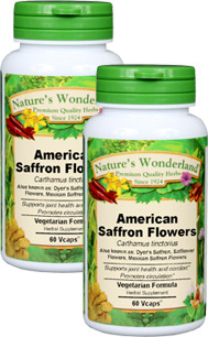 Safflower Capsules - 600 mg, 60 Vcaps™ each (Carthamus tinctorius)