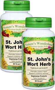 St. John's Wort Capsules - 500 mg, 60 Veg Capsules each (Hypericum perforatum)