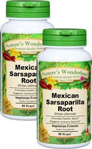 Sarsaparilla, Mexican Capsules - 575 mg, 60 Vcaps™ each (Smilax spp.)