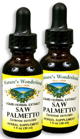 Saw Palmetto Extract, 1 fl oz / 30 ml each (Nature's Wonderland)