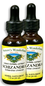 Schizandra Liquid Extract, 1 fl oz / 30 ml each (Nature's Wonderland)