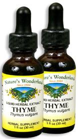 Thyme Extract, 1 fl oz / 30 ml each (Nature's Wonderland)