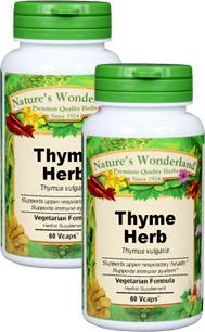 Thyme Capsules - 450 mg, 60 Veg Capsules each (Thymus vulgaris)