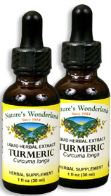 Turmeric Liquid Extract, 1 fl oz / 30 ml each (Nature's Wonderland)