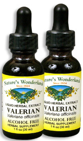 Valerian Root Extract, Alcohol Free, 1 fl oz / 30 ml each (Nature's Wonderland)