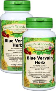 Blue Vervain Capsules - 450 mg, 60 Veg Capsules each (Verbena spp.)