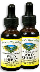 Wild Cherry Bark Liquid Extract, 1 fl oz / 30 ml each (Nature's Wonderland)