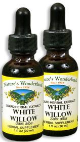 White Willow Bark Extract, 1 fl oz / 30 ml each (Nature's Wonderland)