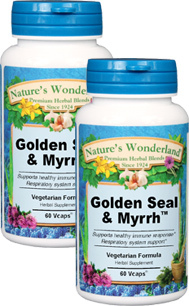 Golden Seal and Myrrh - 800 mg, 60 Veg Capsules each (Nature's Wonderland)