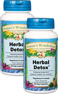 Herbal Detox® - 475 mg, 60 Veg Capsules each (Nature's Wonderland)