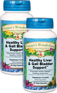Healthy Liver & Gall Bladder Support™ - 450 mg, 60 Veg Capsules each (Nature's Wonderland)
