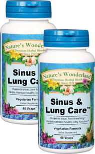 Sinus & Lung Care™ - 525 mg, 60 Vcaps™ each (Nature's Wonderland)