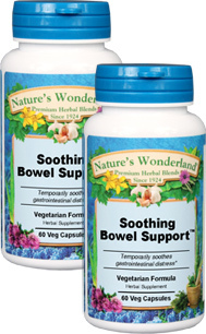 Soothing Bowel Support™ - 550 mg, 60 Vcaps™ each (Nature's Wonderland)