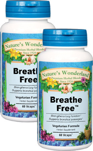 Breathe Free™ - 450 mg, 60 Vcaps™ each  (Nature's Wonderland)