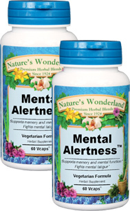 Mental Alertness™ - 450 mg, 60 Veg Capsules each (Nature's Wonderland)