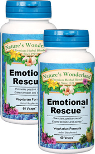 Emotional Rescue™ - 575 mg, 60  Veg Capsules each (Nature's Wonderland)