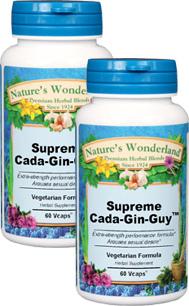 Supreme Cada-Gin-Guy™ - 675mg, 60 Veg Capsules each (Nature's Wonderland)