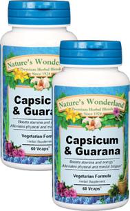Capsicum and Guarana - 775 mg, 60 Vcaps™ each (Nature's Wonderland)