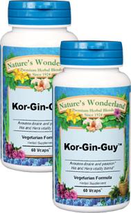 Kor-Gin-Guy™- 575 mg, 60 Veg Capsules each  (Nature's Wonderland)