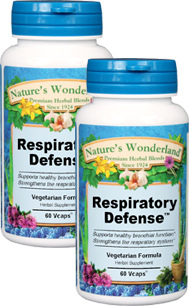 Respiratory Defense™ - 525 mg, 60 Vcaps™ each (Nature's Wonderland)