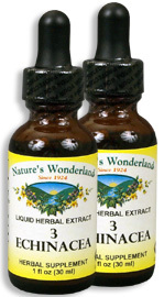 3 Echinacea Liquid Extract, 1 fl oz / 30 ml each (Nature's Wonderland)