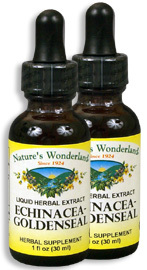 Echinacea - Golden Seal Liquid Extract, 1 fl oz / 30 ml each (Nature's Wonderland)