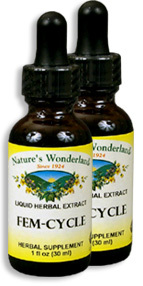 Fem Cycle - PMS Formula, 1 fl oz / 30 ml each (Nature's Wonderland)