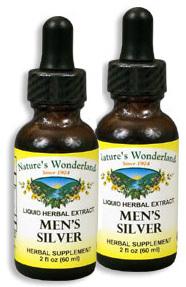 Men's Silver - Prostate Formula, 1 fl oz / 30 ml each (Nature's Wonderland)