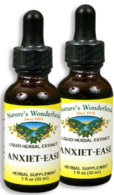 Anxiet Ease Liquid Extract, 1 fl oz / 30 ml each (Nature's Wonderland)