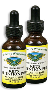 Kid's Attention Plus, 1 fl oz / 30 ml each (Nature's Wonderland)