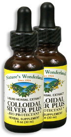 Colloidal Silver Plus Liquid - 15 ppm, 1 fl oz / 30 ml each (Nature's Wonderland)