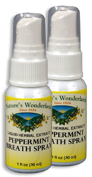 Peppermint Breath Spray, 1 fl oz/ 30 ml each (Nature's Wonderland)