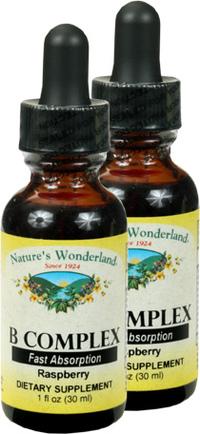 Liquid B Complex - Raspberry, 1 fl oz each (Nature's Wonderland)