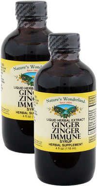 Ginger Zinger Immune Syrup, 4 fl oz each (Nature's Wonderland)